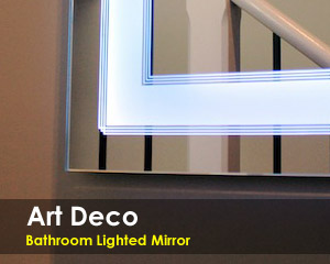 Art Deco Lighted Mirror Unique And Sofisticated