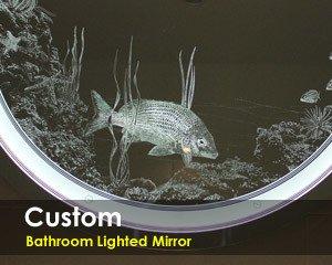 Custom Bathroom Lighted Mirror