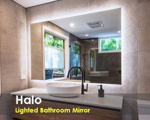 Halo Bathroom Lighted Mirror