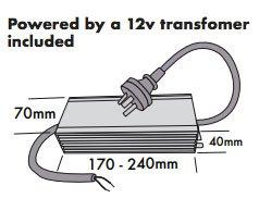 12-volt driver powering led lights